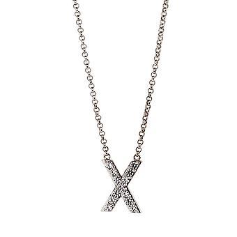 Orphelia Silver 925  Alphabet X With Chain 40-44 Cm  ZK-alpha/X