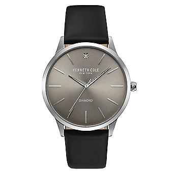 Kenneth Cole New York men's wrist watch analog quartz leather KC10031277
