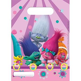 Party bags bags bag children's Party trolls birthday 6 pieces