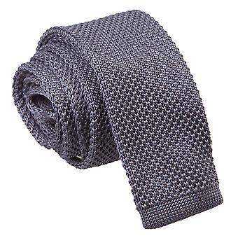 Holzkohle gestrickt schmaler Krawatte