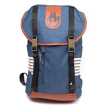 Star Wars Backpack Han Solo Inspired Falcon Logo Melange new Official