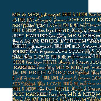 Carta Bella Love Story Foiled Double-Sided Cardstock 12