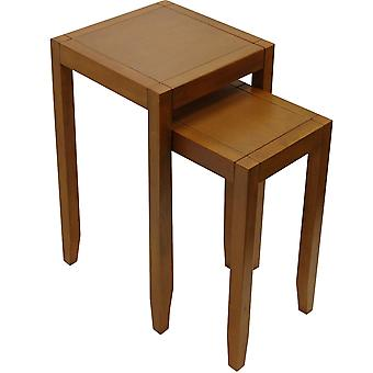 Anywhere - Solid Wood Nest Of Two Side / End Tables - Walnut Effect