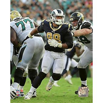 Aaron Donald 2017 Action Photo Print