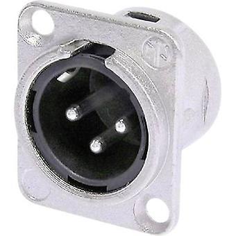 XLR connector Sleeve plug, straight pins Number of pins: 3 Silver Neutrik NC3MDL1 1 pc(s)