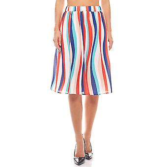 Ladies summer skirt MIDI Crêpe stained rick cardona