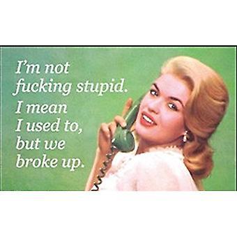 Eu não sou F * * * rei estúpido... Imã de geladeira engraçado