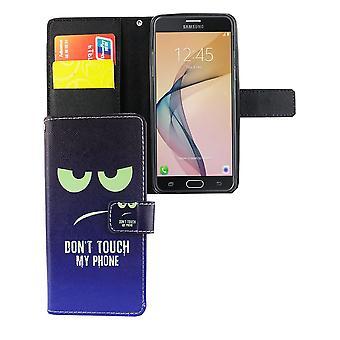 Mobiele telefoon geval zakje voor mobiele Samsung Galaxy J5 Prime raak niet mijn telefoon blauw / groen
