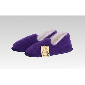 Moccasin wool purple 40/41