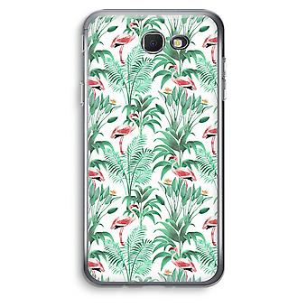 Samsung Galaxy J5 Prime (2017) Transparent Case (Soft) - Flamingo leaves