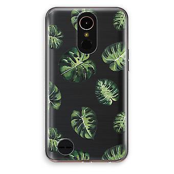 LG K10 (2017) Transparent Case (Soft) - Tropical leaves