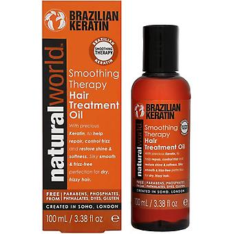 Natural World Brazilian Keratin Oil Smoothing Therapy Hair Treatment 100 ml