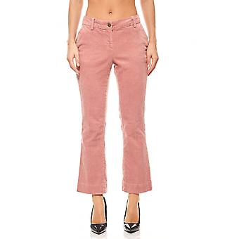 B.C.. best connections ladies flared corduroy pants of pink