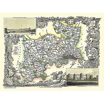 Map of Middlesex 1836 by Thomas Moule 1000 Piece Jigsaw Puzzle (jhg)