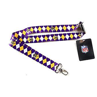 Minnesota Vikings NFL Argyle Lanyard