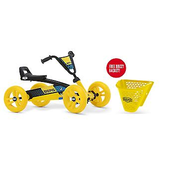 BERG Buzzy BSX Pedal Go Kart With Free Buzzy Basket Yellow