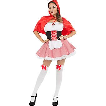 Deluxe Red Riding Hood Fancy Dress Costume