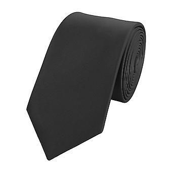 Schlips Krawatte Krawatten Binder 6cm schwarz Fabio Farini