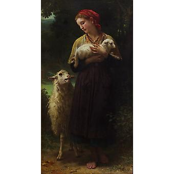 The Shepherdess,Adolphe William Bouguereau,80x40cm