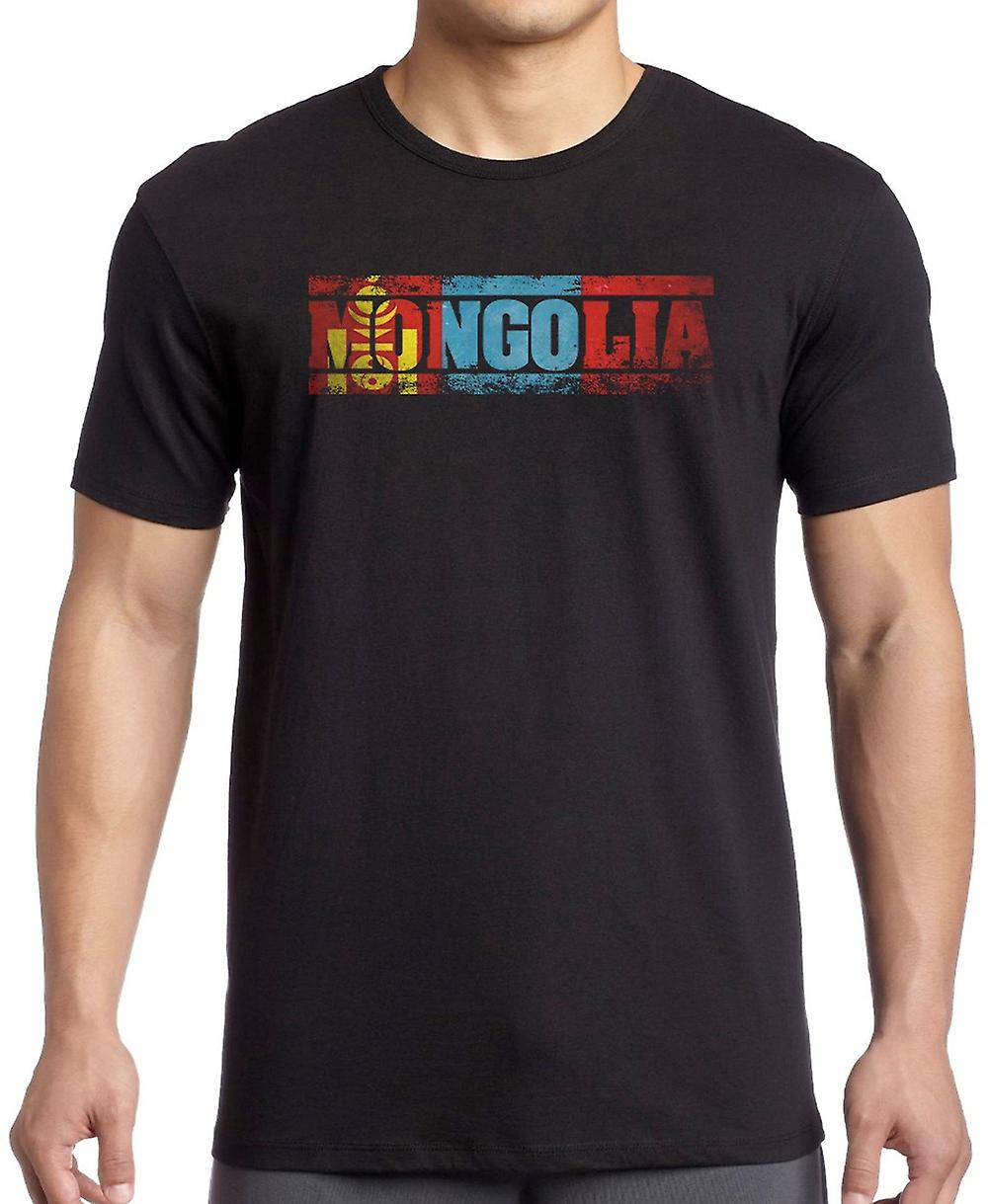 Mongolia Flag - Words T Shirt
