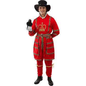 Orion Costumes Mens Beefeater Royal Palace Guard British Fancy Dress Costume