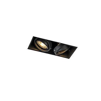 QAZQA Recessed Spotlight Oneon 2 GU10 Trimless Black