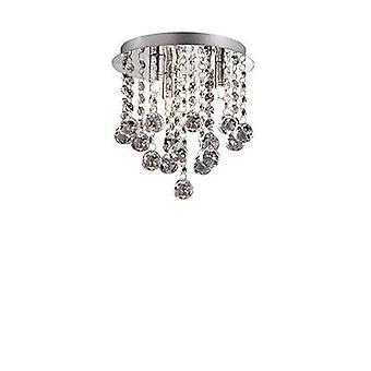 Ideal Lux - Bijoux Small Chrome & Crystal Semi-Flush Fitting IDL089461
