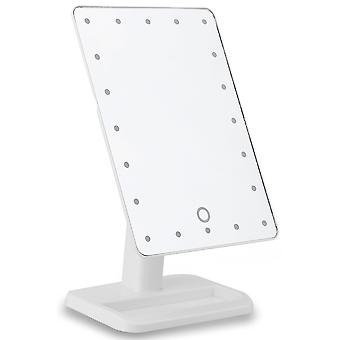 Cosmetic mirror with LED lights-White