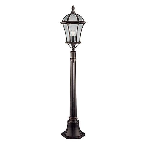 Searchlight 1568 Capri Traditional Outdoor Bollard Lamp Post In Rustic Brown