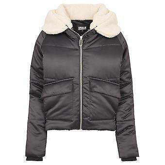 Urban Classics Women's Winter Jacket Sherpa Hooded Jacket
