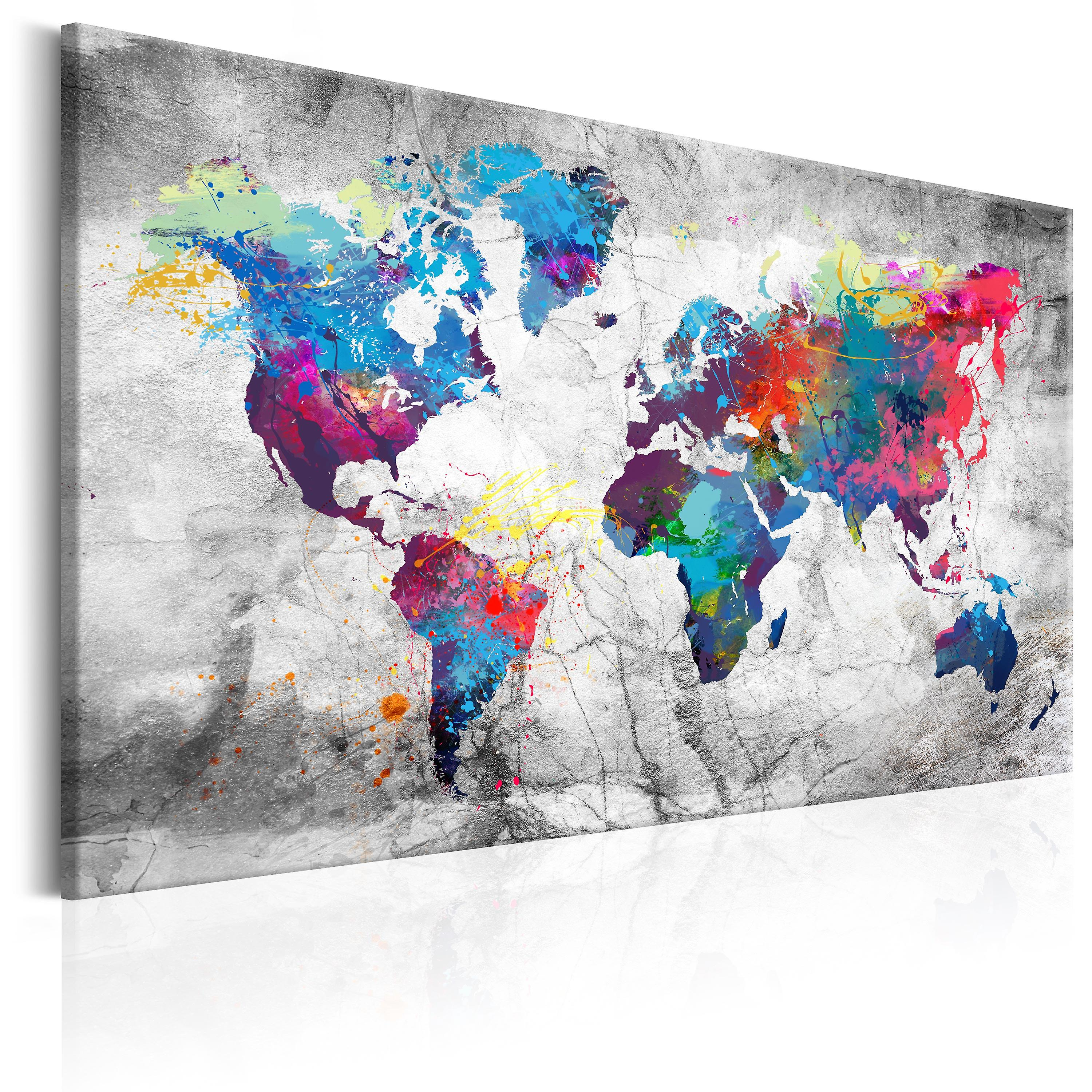 Tableau - World Map  gris Style