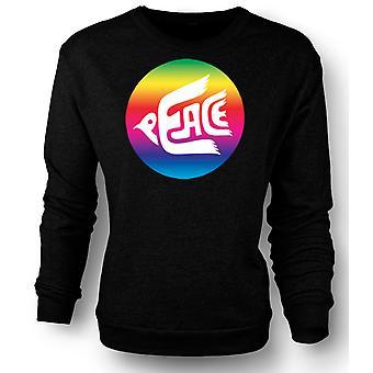 Felpa uomo pace Rainbow colomba Logo