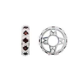 Storywheels Silver & Garnet Charm S117G