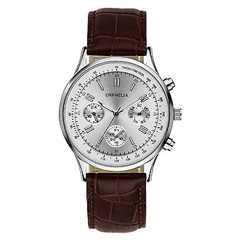 ORPHELIA Mens Analogue Watch Champions League Brown Leather OR81506