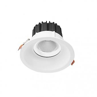 Led 1 Light Recessed Downlight Matt White Ip44