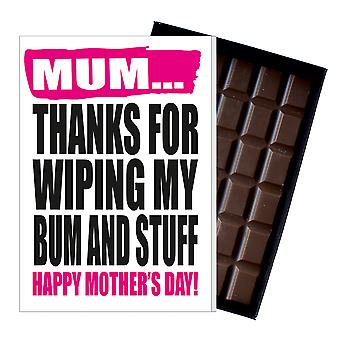 Funny Mother's Day Gift Boxed Chocolate Present Rude Greeting Card For Mom Mum Mumy MIYF124