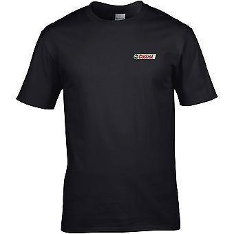 Castrol Oil - Biker Car Motorcycle Embroidered Logo - Cotton Premium T-Shirt
