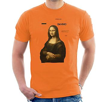 A.P.O.H Leonardo Da Vinci Mona Lisa Masterpieces Quote Men's T-Shirt