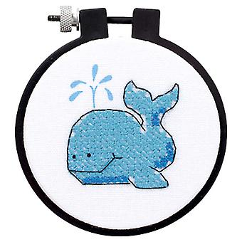 Learn A Craft The Whale Stamped Cross Stitch Kit 3