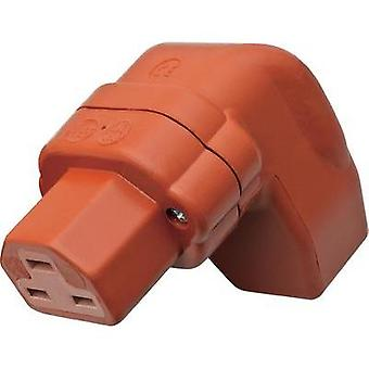 Hot wire connector C21 ATT.LOV.SERIES_POWERCONNECTORS 444 Socket, right angle Total number of pins: 2 + PE 16 A Red Kalt