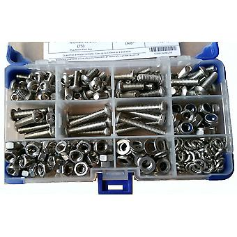 765Pc Socket Button Head Setscrews A2 Stainless Steel With Washers and Nuts M4 4MM