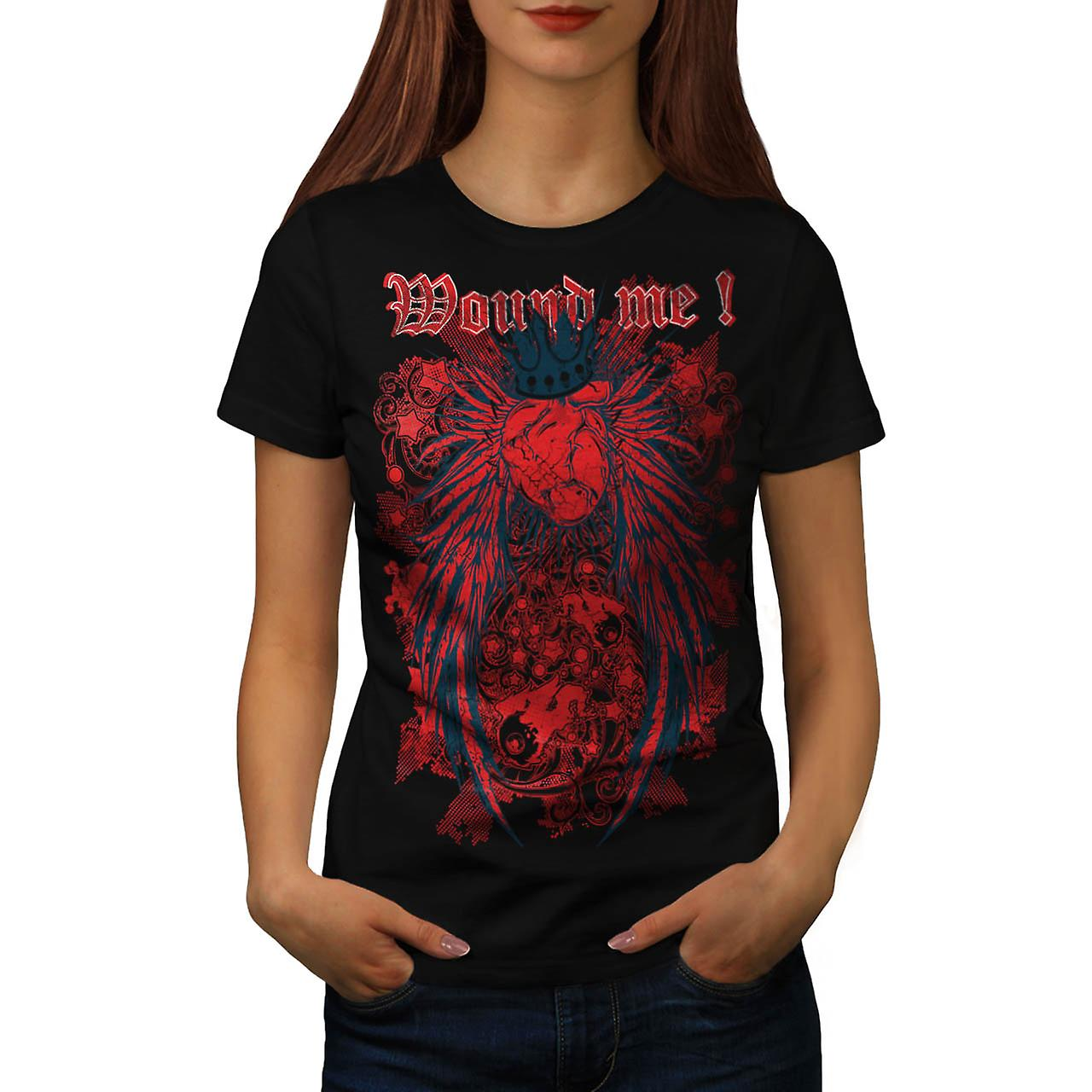 Mound Me Heart Royal Love Queen Women Black T-shirt | Wellcoda