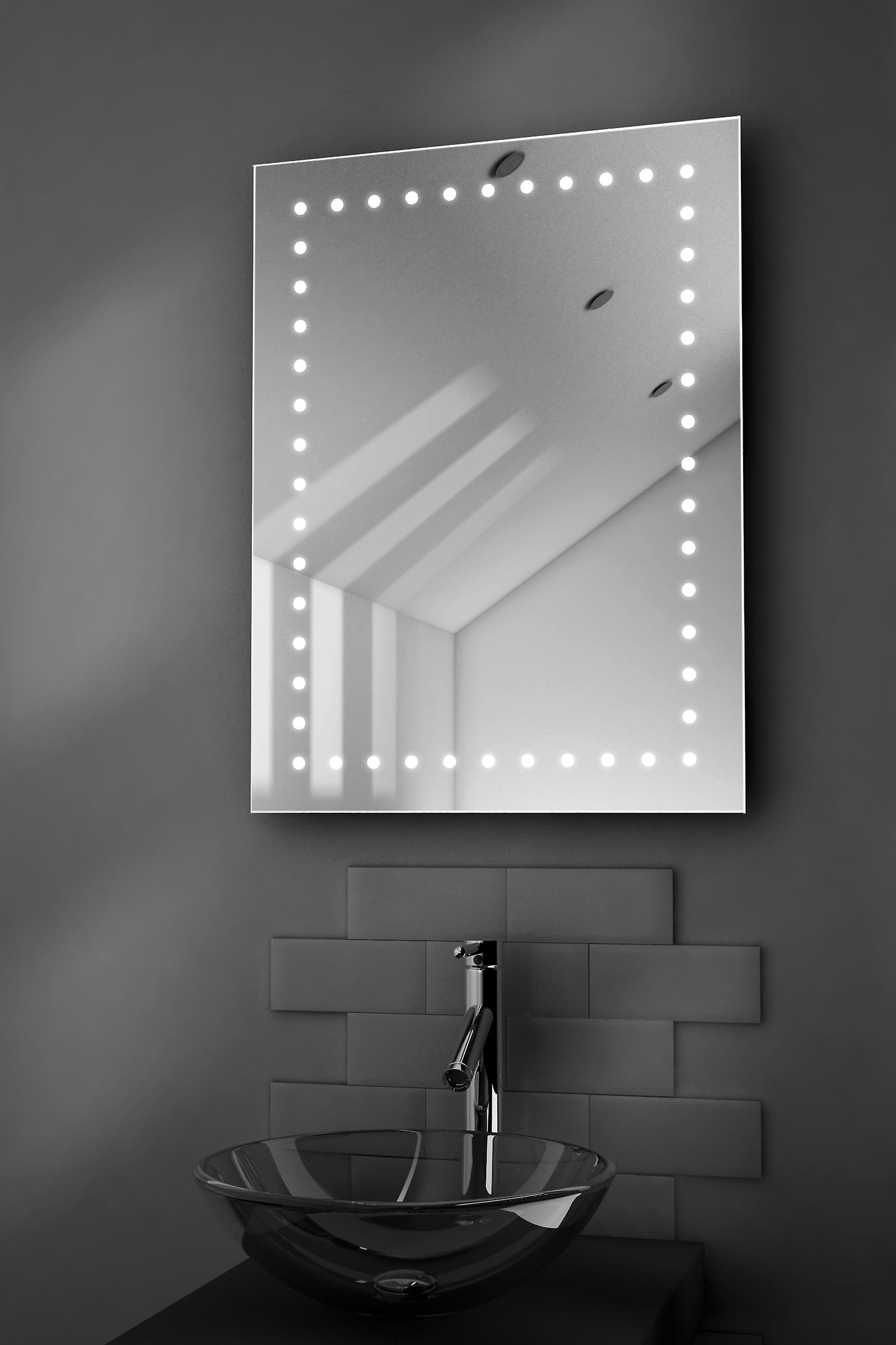 Demister Shaver LED Illuminated Bathroom Mirror H800 x W600 x D45
