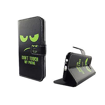 Mobile phone case pouch for mobile Samsung Galaxy A5 2017 dont touch my phone Green