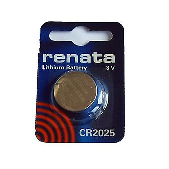 Renata 3 Volt 20.0 x 2.5 mm Lithium Battery - Pack of 10 (CR2025)