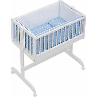 Interbaby Textile co-sleeping crib + Blue Star