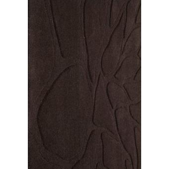 Contemporary Chocolate Brown Wool Rug - Flora
