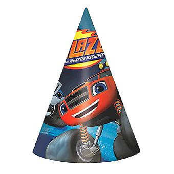 Blaze and the Monster Machines Paper Cone Hats [8 Per Pack]