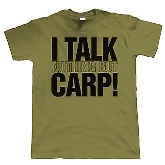 Rozmawiam tylko karp, Mens Funny połowów T Shirt | Szorstkie morze karp meczu latać wzór rozwiązania rybacy Odzież wędkarstwo wędkarz | Fajne urodziny prezent przedstawić mu dziadek syn tata męża