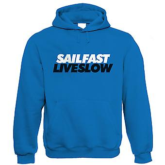 Vectorbomb, Sail Fast Live Slow, Unisex Sailing Hoodie